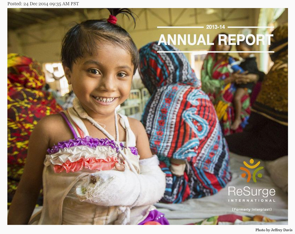 ReSurge Tear Sheet 12 24 2014 No 2 Annual Report