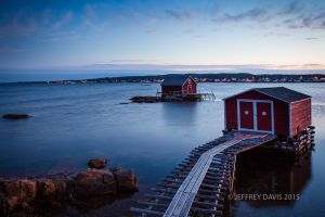 FISHING HUTS, FOGO ISLAND, NEWFOUNDLAND, CANADA