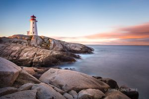 FIRST LIGHT, PEGGY'S COVE, NOVA SCOTIA, CANADA