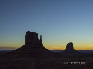 MITTENS IN SILHOUETTE, MONUMENT VALLEY, UTAH