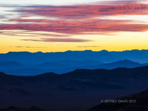 CLOUD FIRE, DANTE'S PEAK, DEATH VALLEY NATIONAL PARK, CALIFORNIA