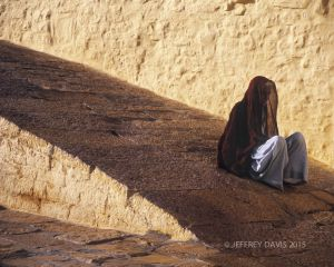 MORNING PRAYER, FORT JAISALMAR, RAJASTHAN, INDIA