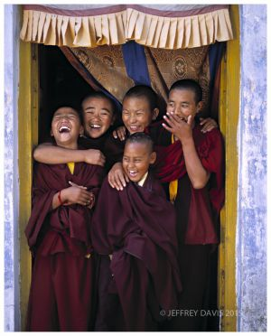 NUNS AT PLAY, DHARAMSALA REGION, TIBET