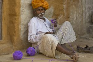 WORKING THE YARN, RAJASTAN, INDIA