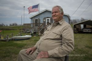 JEWEL, RETIRED CONTRACTOR AND FISHERMAN, HURRICANE SURVIVOR, NEW ORLEANS, LOUISIANA