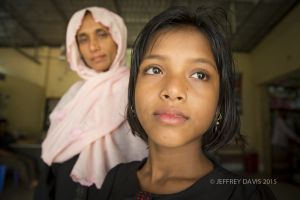 NOOR WITH HER MOTHER, COX'S BAZAR, BANGLADESH