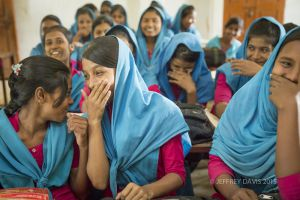 LAUGHTER, GOVERNMENT PRIMARY SCHOOL, COX'S BAZAR, BANGLADESH