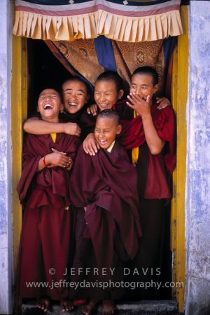 NUNS AT PLAY, DHARAMSALA REGION, INDIA