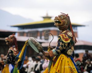 DANCE TO THE GODS, PARO FESTIVAL, PARO, BHUTAN