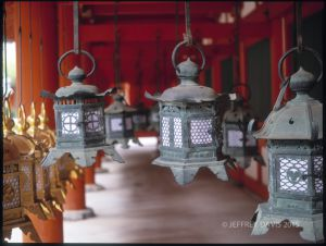LANTERNS, SHINTO SHRINE, NARA, JAPAN