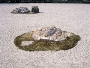 CONTEMPLATION, ROCK GARDEN, KYOTO, JAPAN