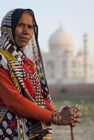 GOAT HERDER, TAJ MAHAL, INDIA