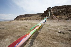 PRAYER FLAGS, LAKE MONSAROVA, TIBET