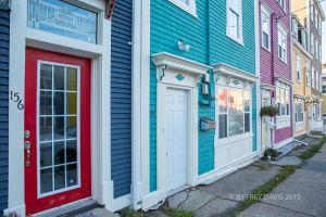 JELLY BEAN ROW, ST. JOHN'S, NEWFOUNDLAND, CANADA