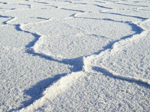 FROZEN RIPPLES, SALT FLATS, DEATH VALLEY NATIONAL PARK, CALIFORNIA