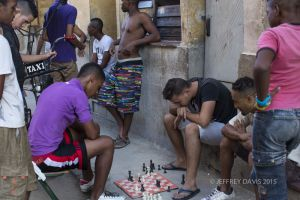 CHESS MASTERS ON THE STREET, OLD SECTION, HAVANA, CUBA