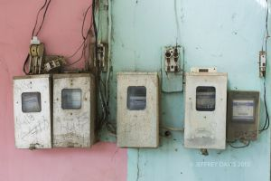URBAN POWER, ELECTRICAL METERS, VINALES, CUBA