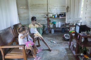 LORENZO AND STEPHANIE, AT HOME, HILLTOP VILLAGE NEAR VINALES, CUBA