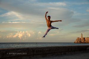 JOSE IN FLIGHT, MALECON, HAVANA, CUBA