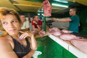 MEAT FOR SALE, CENTRAL HAVANA, CUBA