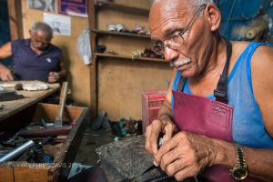 DIANISIO AND MIGUEL, SHOE REPAIR, HAVANA, CUBA