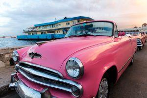 PINK SUNSET, OLD HAVANA, CUBA