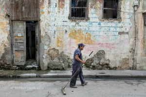 STREET SWEEPER, OLD HAVANA, CUBA