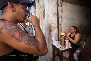 JUDY, COFFEE MERCHANT, OLD HAVANA, CUBA