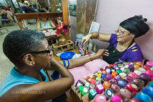 NOLA AND HIDA, NAIL SALON, HAVANA, CUBA