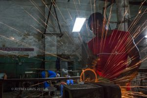 JORGE, GRINDER AND WELDER, OLD HAVANA, CUBA