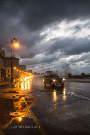 A STORMY NIGHT, THE MALECON, HAVANA, CUBA