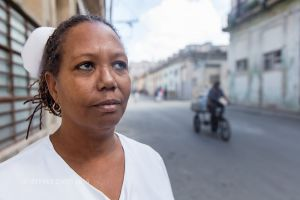 XIOMARA, COMMUNITY NURSE, CENTRAL HAVANA, CUBA