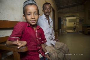 RIFAT WITH HIS FATHER, WAITING FOR SURGERY, HOPE HOSPITAL, COX'S BAZAR, BANGLADESH
