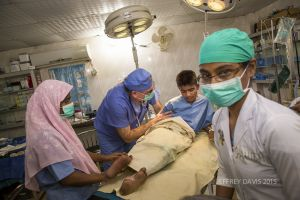 MOHAMMED PREPARES FOR SURGERY, HOPE HOSPITAL, COX'S BAZAR, BANGLADESH