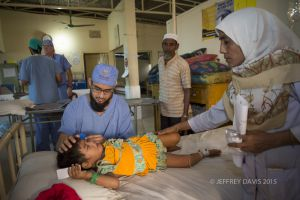 DR. IFTEKHAR REVIEWS AZIDA'S PROGRESS POST SURGERY, HOPE HOSPITAL, COX'S BAZAR, BANGLADESH