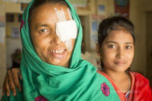 HOSNE WITH HER DAUGHTER, POST SURGERY, HOPE HOSPITAL, COX'S BAZAR, BANGLADESH