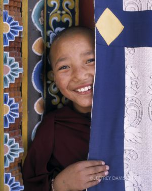 CONNECTION, YOUNG NUN, TIBETAN NUNS PROJECT, DHARAMSALA REGION, INDIA, 2004, SERIES C