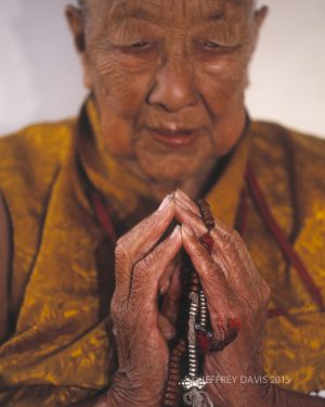 A LIFE OF PRAYER, ELDER NUN, DHARAMSALA, INDIA, 2005, SERIES C