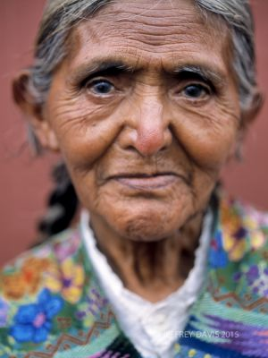 REFLECTION, MAYAN ELDER, ANTIQUA, GUATEMALA, 2005, SERIES C
