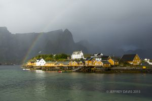 VILLAGE RAINBOW, LOFOTEN ISLANDS, NORWAY, 2012, SERIES A
