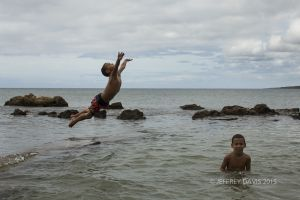 JOY IN FLIGHT, ADRIAN AND HIS BUDDY, LA BOCA, CUBA, 2013, SERIES A