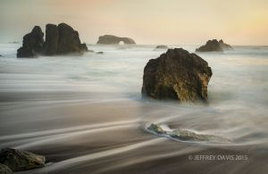 SUNSET AT GOAT ROCK, NORTHERN CALIFORNIA COAST, 2014, SERIES A