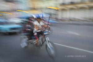 HAVANA IN MOTION, BICYCLE RICKSHAW, CUBA