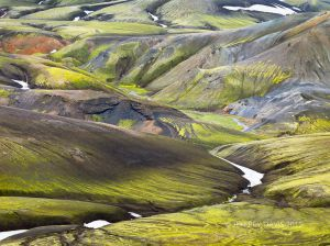 RUGGED TAPESTRY, HIGHLANDS, ICELAND