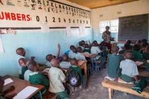 1ST GRADE CLASSROOM, HOPE COMMUNITY SCHOOL, NDOLA, ZAMBIA