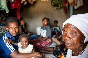 A HUT FOR FOURTEEN PEOPLE, SIANKABA, ZAMBIA