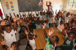 MORNING GREETING, SIANKABA NURSERY SCHOOL, ZAMBIA