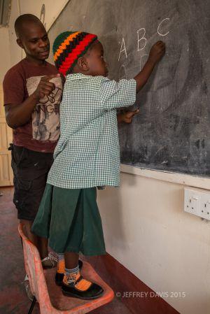LEARNING THE ALPHABET, SIANKABA NURSERY SCHOOL, ZAMBIA