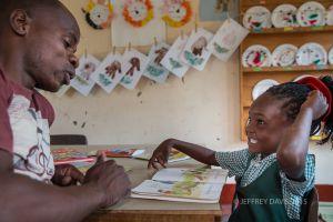 READING LESSONS, SIANKABA NURSERY SCHOOL, ZAMBIA