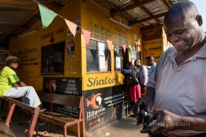 IN MOTION, BUS STATION, LIVINGSTONE, ZAMBIA